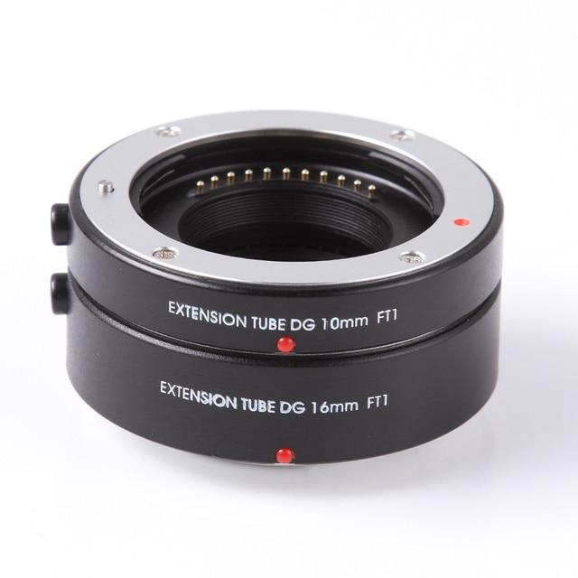 Fotga macro af focagem automática extensão tubo lente anel adaptador dg 10mm + 16mm para quatro terços m43 micro 4/3 câmera