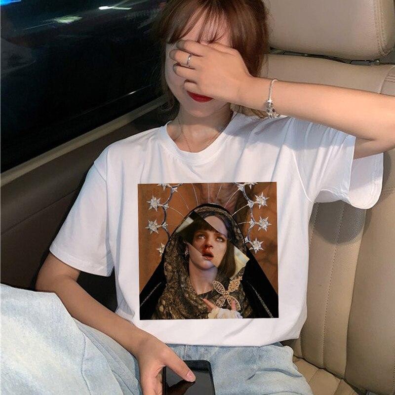 New Pulp Fiction Movie T Shirt Women Harajuku Ullzang 90s Korean T-shirt Aesthetic Funny Print Tshirt Graphic Top Tees Female 7