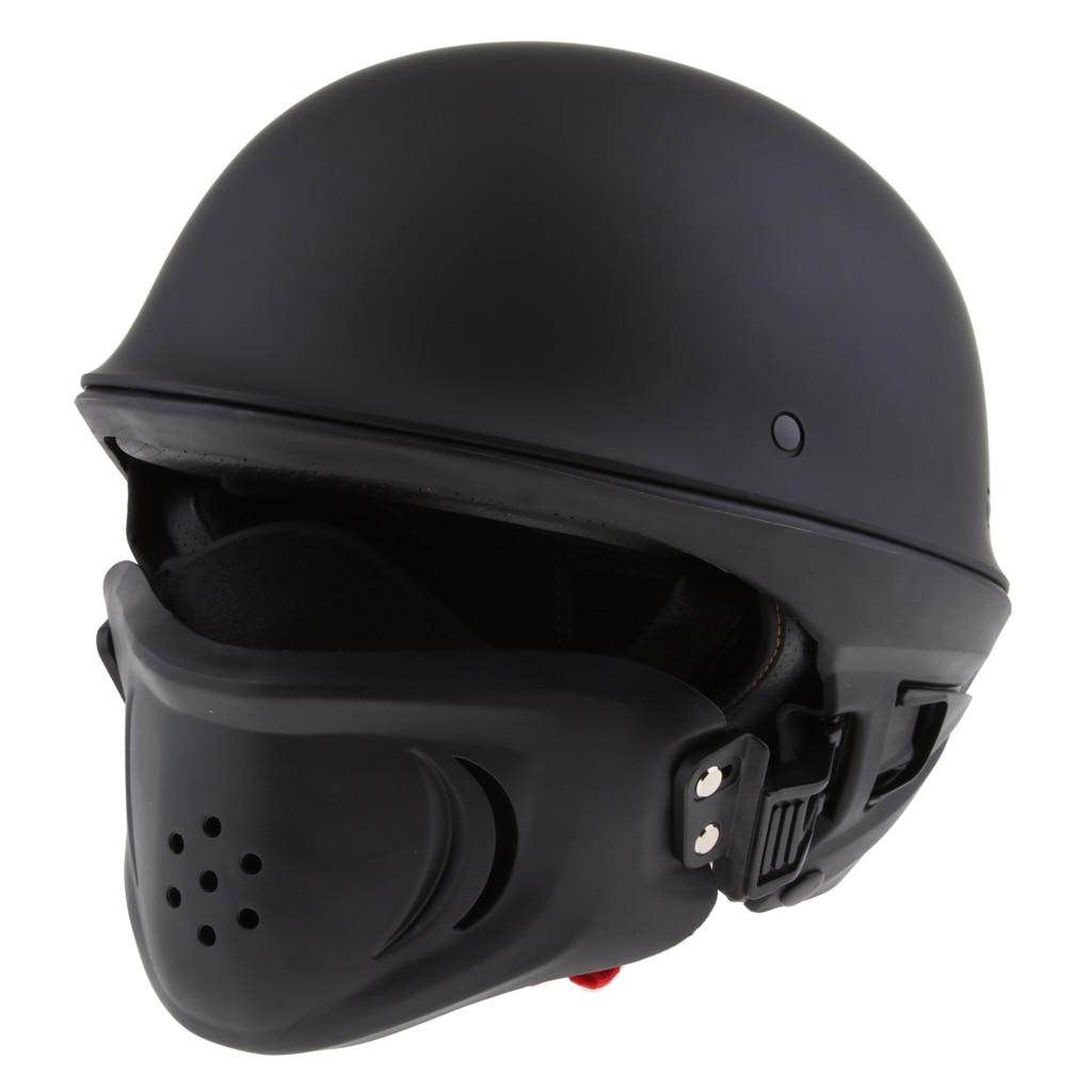 3//4 Motorcycle Rogue Helmet for Harley Chopper Bobber S-XXL