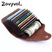 ZOVYVOL 2019 Men And Women Genuine Leather Unisex Business Card Holder Wallet Bank Credit Case ID Holders Purse