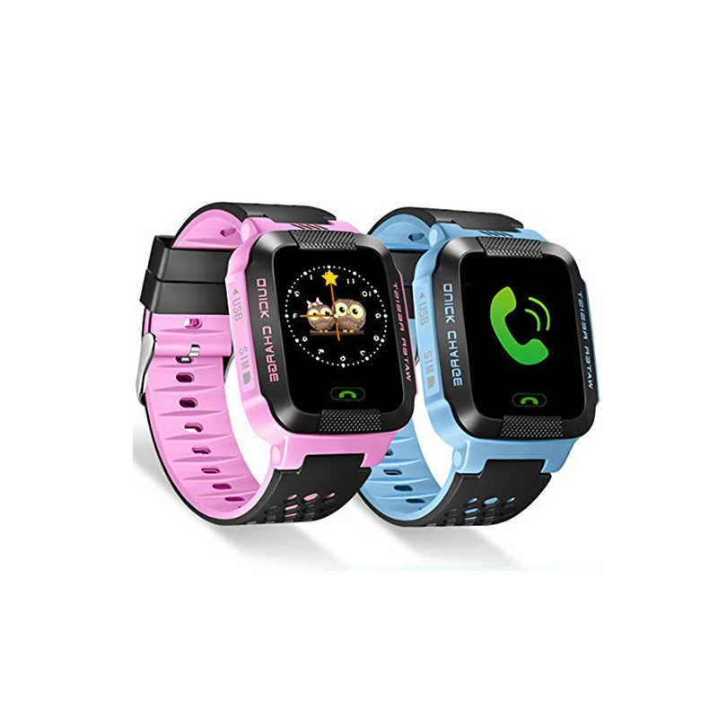 HLTON Children Gifts Child Student Kid Smart Watch GSM GPRS GPS Locator SOS Tracker Anti-Lost With Flashlight For IOS Android