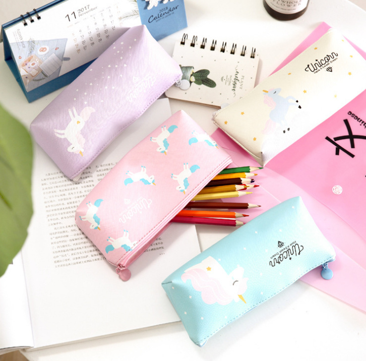 Gift Pocket Coin Bag Case Pouch Unicorn Pu Coin Bag Case Pouch ; 4colors For Choice Charitable Kawaii Big Size 18*8cm