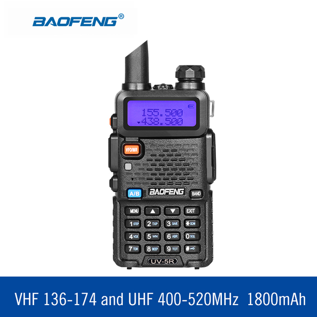 BAOFENG УФ-5r двухдиапазонная радио рация радиостанция 136-174Mhz & 400-520Mhz Baofeng UV5R ручное двухстороннее Радио