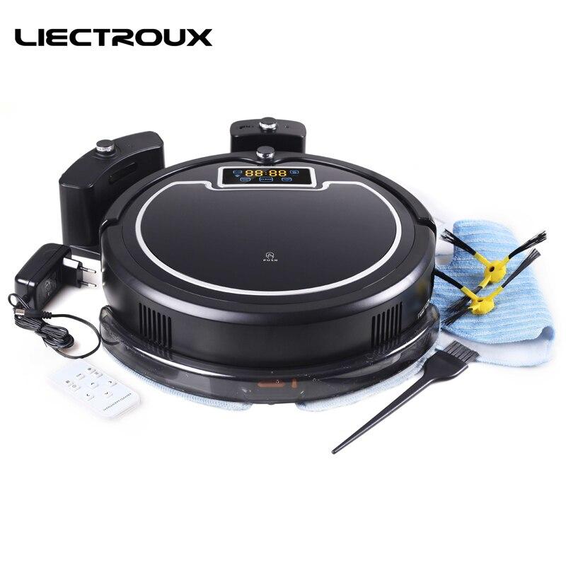 LIECTROUX B2005PLUS Robot Aspirateur avec Humide/Sec Grande Vadrouille Réservoir D'eau, Calendrier, smart Auto Recharge Propre Aspirateur