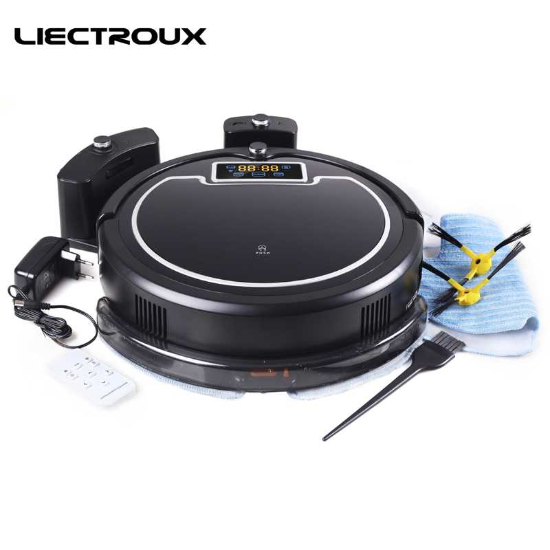 LIECTROUX B2005PLUS Robot Vacuum Cleaner with Wet/Dry Big Mop Water Tank, Time Schedule, Auto Smart Recharge Clean Aspirator free to all liectroux b2005plus wet and dry mop robot vacuum cleaner with selfcharge home smart remote control cleaning robot