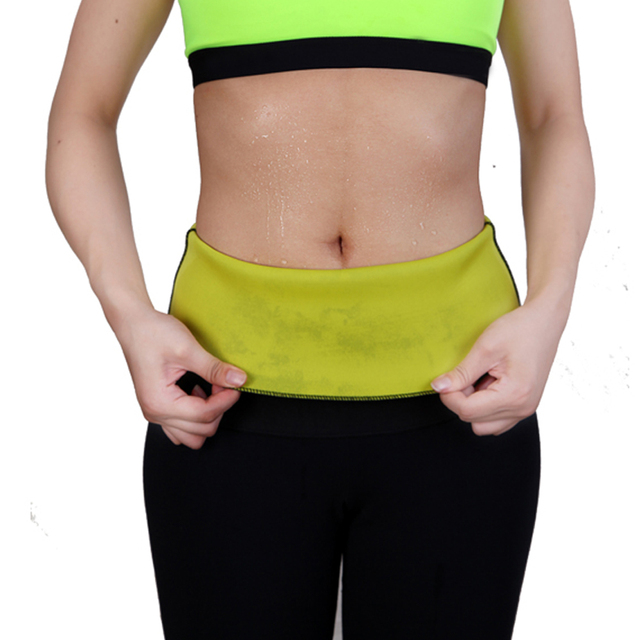 Fashion Neoprene Sauna Sweat Belt Fitness Stretch Waist Trainer Body Shaper Tummy Cincher Corset Slim Belly Binder Trans 4