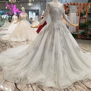 Image 3 - AIJINGYU 반짝 이는 가운 럭셔리 레이스 가운 여왕 로맨틱 신부 멕시코 2021 2020 볼 드레스 간단한 웨딩 드레스