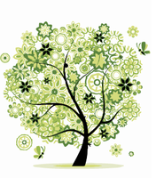 On Canvas Diy Digital By Numbers Drawing Home Decor Craft Frameless Landscape Green Tree Decoration Mural