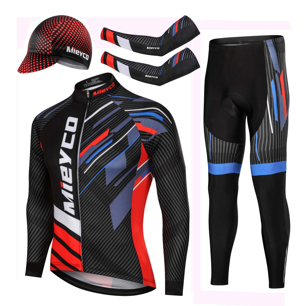 Mieyco Professional Cycling Uniform Spring Autumn Sweatshirt Trousers Set Mountain Bike Cycling Equipment motocross Clothing