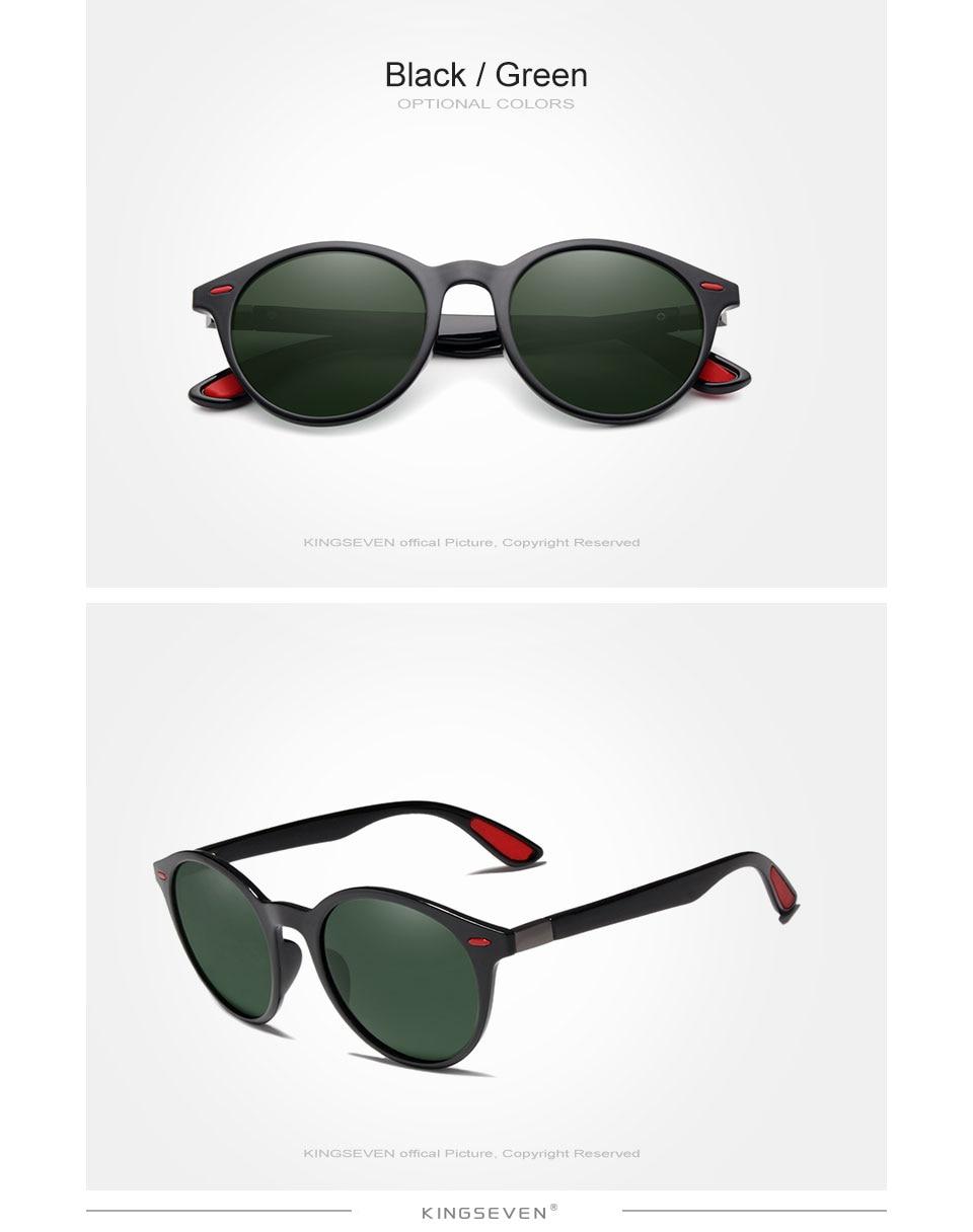 KINGSEVEN TR90 Vintage Men Sunglasses Polarized Oval Frame Sun glasses Women Men Unisex Night Vision Goggles Oculos De Sol