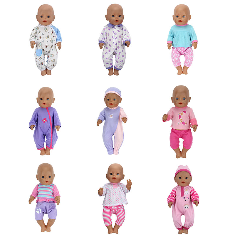 Fashion Clothes Suit Fit For 43cm Zapf Baby Born Doll 17 Inch Dolls Clothes