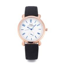 Mulheres de luxo Da Marca Relógios 2018 Moda Casual Subiu Mostrador em Ouro Relógio de Quartzo de Couro Das Senhoras Elegante Dress Watch Relogio feminino