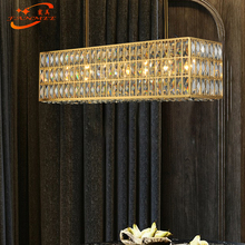 Modern Linear Chandelier Crystal Lamp LED Crystal Chandelier Light Suspended Lighting for Living Dining Room Decor modern led crystal chandelier pendant lamp home decor princess chandeliers e27 crystal abajur kronleuchter children room light