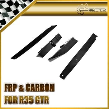 Car Styling For Nissan 2013 R35 GTR VER VRS Carbon Fiber Rear Diffuser Vertical Fin (4Pcs)
