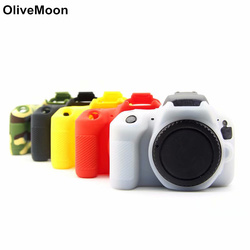Камера силиконовой резины чехол КРЫШКА ДЛЯ цифровой однообъективной зеркальной камеры Canon EOS 600D 650D 700D 800D 200D 1500D 1300D 77D 70D 80D 6D 5D3 5D4 6D2 Защитная кр...