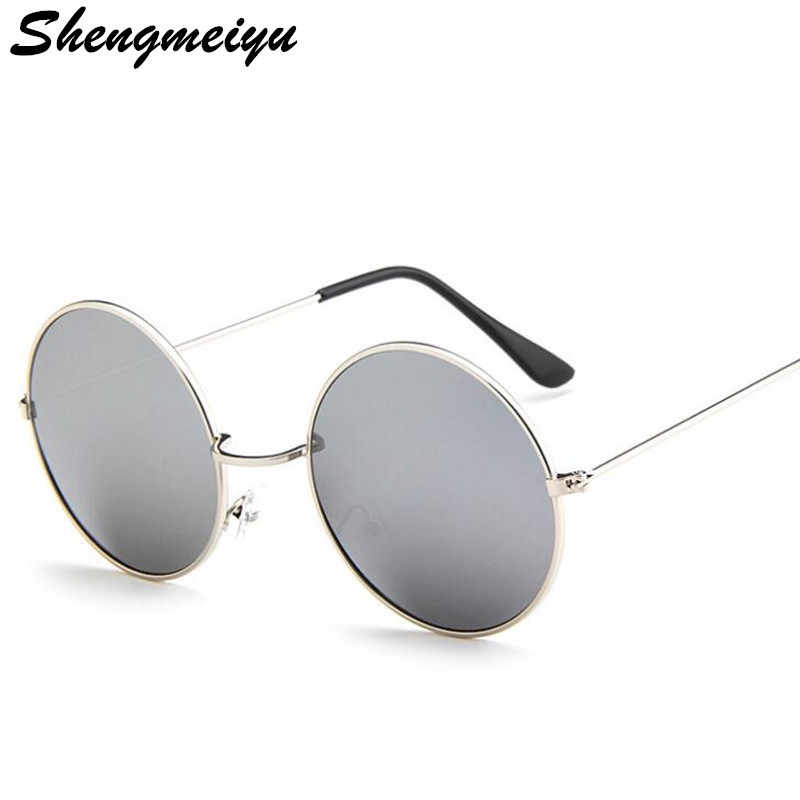 f8b843fe05 New Brand Designer Classic Round Sunglasses Men Small Vintage Retro John  Lennon Glasses Women Driving Metal