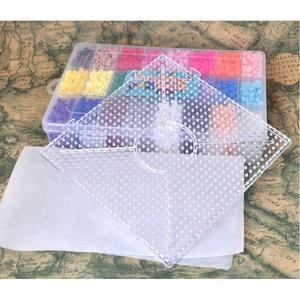 4800 perler beads TOYS 5mm 24colors box set MINI hama educational Kids diy toys fuse beads plussize pegboard sheets ironing pape(China)