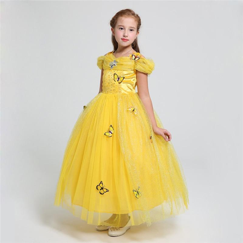 Belle Dress 2 12 Anni Dei Ragazze Abiti Da Cenerentola Ragazze