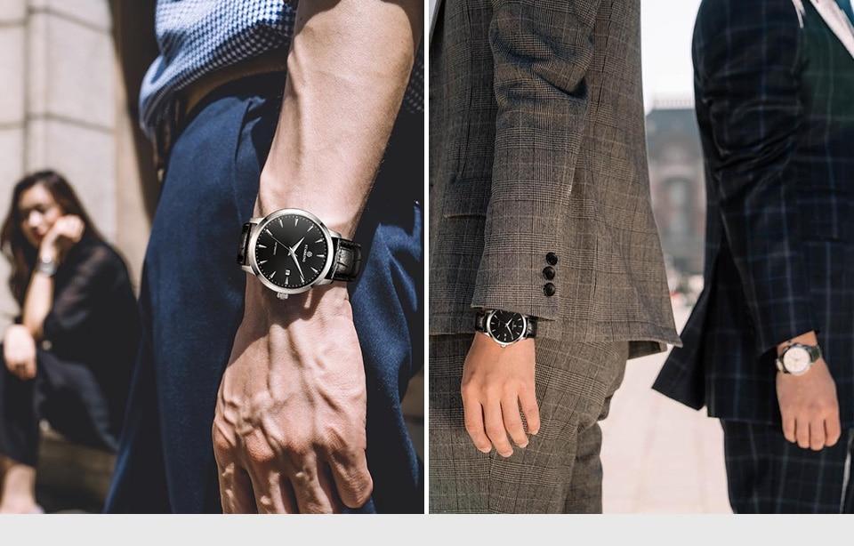 HTB1hUnik1uSBuNjSsplq6ze8pXae STARKING Automatic Watches Men Stainless Steel Business Wristwatch Leather Fashion 50M Waterproof Male Clock Relogio Masculino