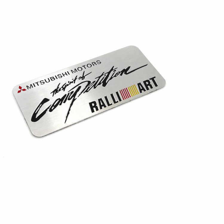 1Car Styling Accessoires Embleem Badge Decal Sticker RALLIART Racing Motorsport voor MITSUBISHI LANCER PAJERO OUTLANDER ASX Galant