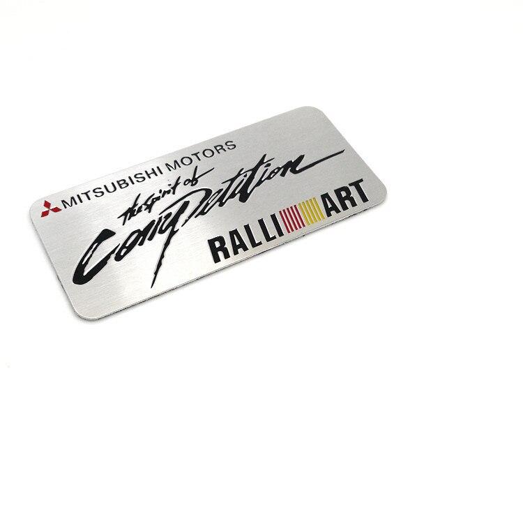 1Car Средства для укладки волос эмблема значок наклейка RALLIART гонки Мотоспорт для Защитные чехлы для сидений, сшитые специально для MITSUBISHI LANCER ...
