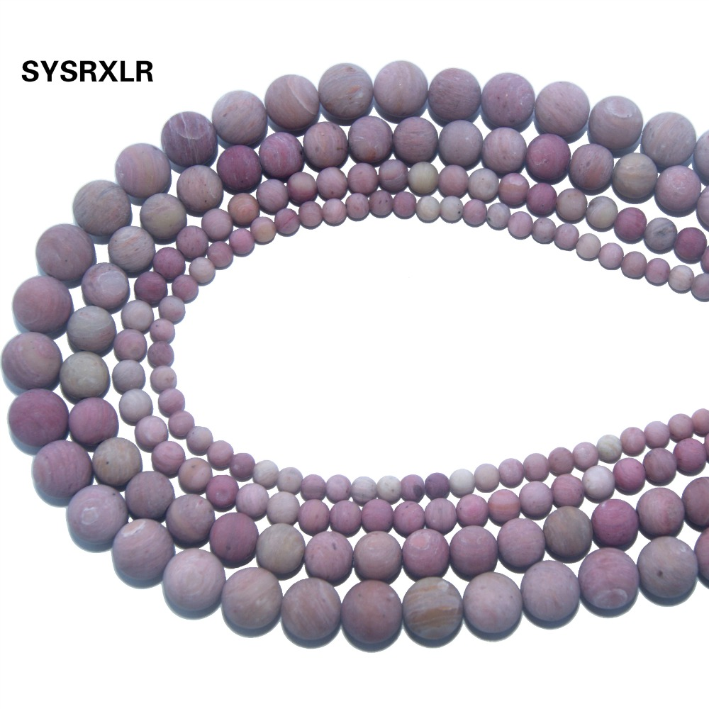 Wholesale Dull Polish Natural Stone Pink Rhodochrosite Round Beads For Jewelry Making Charm DIY Bracelet Necklace 4 6 8 10 MM in Beads from Jewelry Accessories