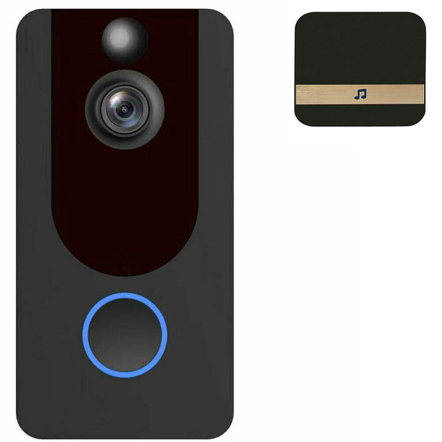 Details about  Wireless Ring Video Doorbell WiFi Security Phone Bell Intercom 1080P Intercom
