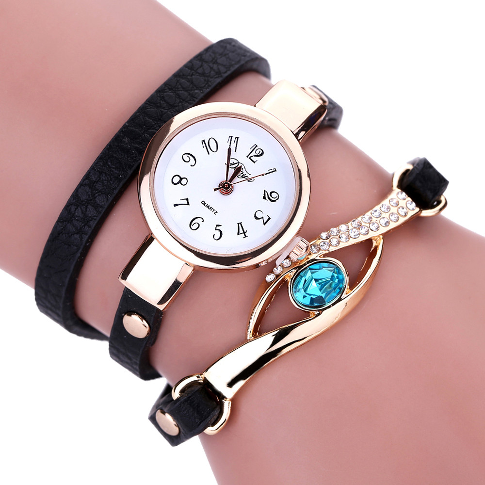 buy duoya ladies 39 fashion watches eye gemstone luxury watches women gold bracelet watch female. Black Bedroom Furniture Sets. Home Design Ideas
