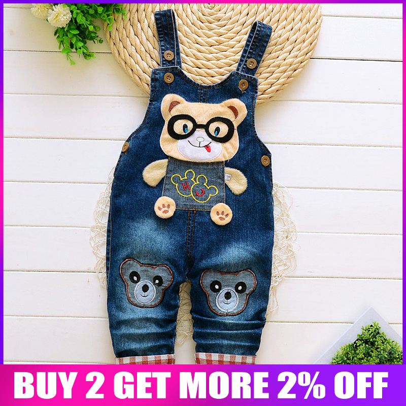 Bibicola Frühling Herbst Jungen Insgesamt Jeans Kleidung Kinder Hosen Kleinkind Denim Gesamt Hosen Kinder Cartoon Infant Bib Jeans Offensichtlicher Effekt Mutter & Kinder