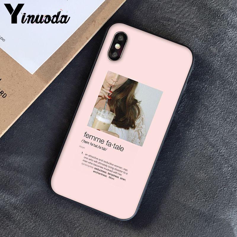 Yinuoda, розовый, эстетический, песни, лирика, эстетический, мягкий силиконовый чехол для телефона, чехол для iPhone 8, 7, 6, 6 S, 6 Plus, X, XS, MAX, 5, 5S, SE, XR, 10 - Цвет: A10