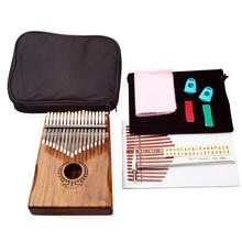Muspor 17 Keys EQ kalimba Mbira Sanza Acacia Fingertips Thumb Piano Link Speaker Pickup with Bag Cable Musical Instrument цены