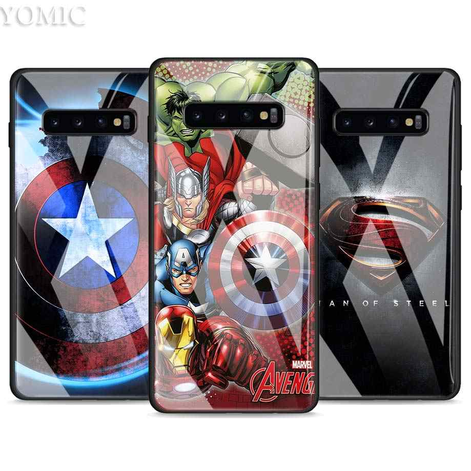 Gehard Glas Case Voor Samsung Galaxy S10e S10 S8 S9 Plus Note 9 10 A51 A71 Telefoon Cover Marvel Avengers iron Man Captain Ameri