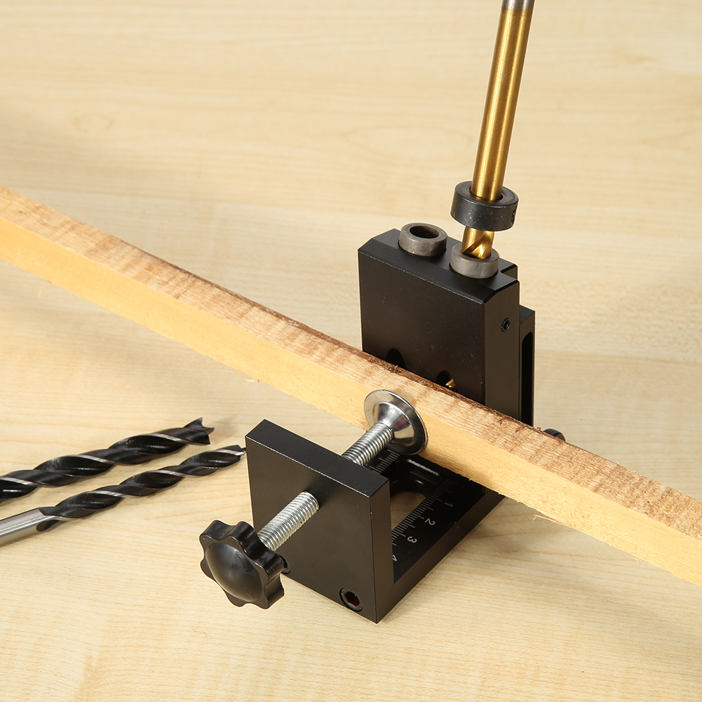 Ensemble de localisateur de trous en alliage d'aluminium pour le travail du bois 9.5mm