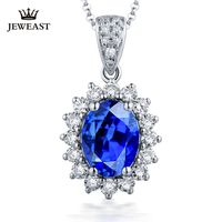 Natural sapphire 18K Pure Gold Pendant Real AU 750 Solid Gold Upscale Trendy Classic Party Fine Jewelry Hot Sell New 2019