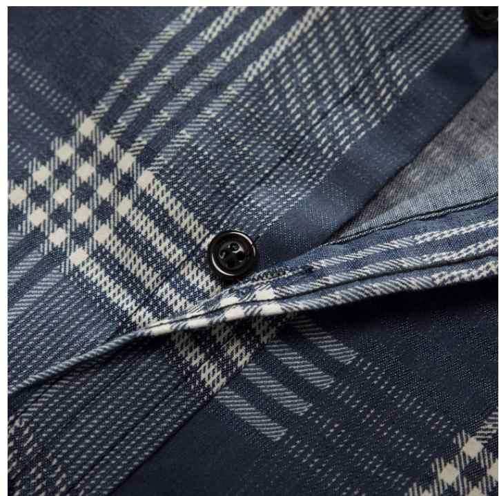 Мужские повседневные джинсы большого размера с длинными рукавами клетчатые рубашки Чистый хлопок для мужчин рубашка для отдыха мужские рубашки Европа Размер M/3Xl Топы J2650
