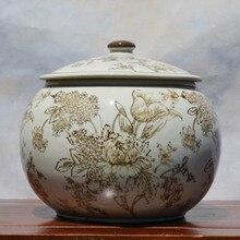 Тао Caicai европейский бежевый резервуар с крышкой керамическая чайник круглый сосуд комплект украшения