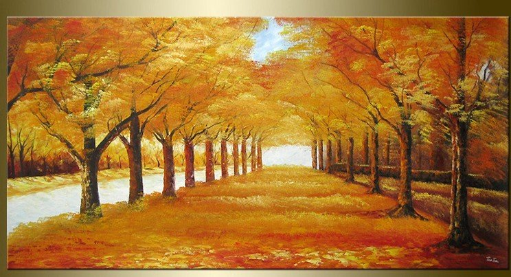 Arte pintado a mano de oro del oto o avenida decoraci n for Decoracion del hogar hecho a mano