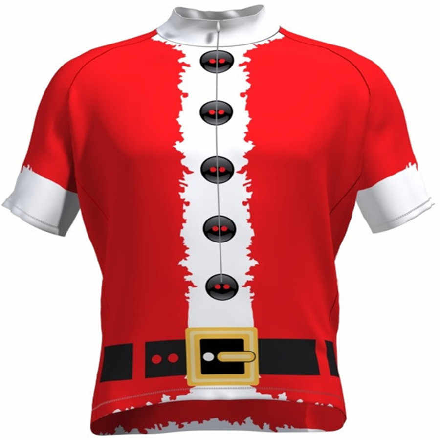 ... cycling jerseys set 2018 santa Christmas Gift bike clothing bicycle  wear short sleeve ropa ciclismo men ... d6375024d