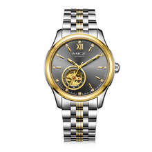 2017 Real New Rushed Sale Mechanical Man Watches Gray White Steel Watchband Waterproof Saphire Dial Automatic Mans Wristwatch