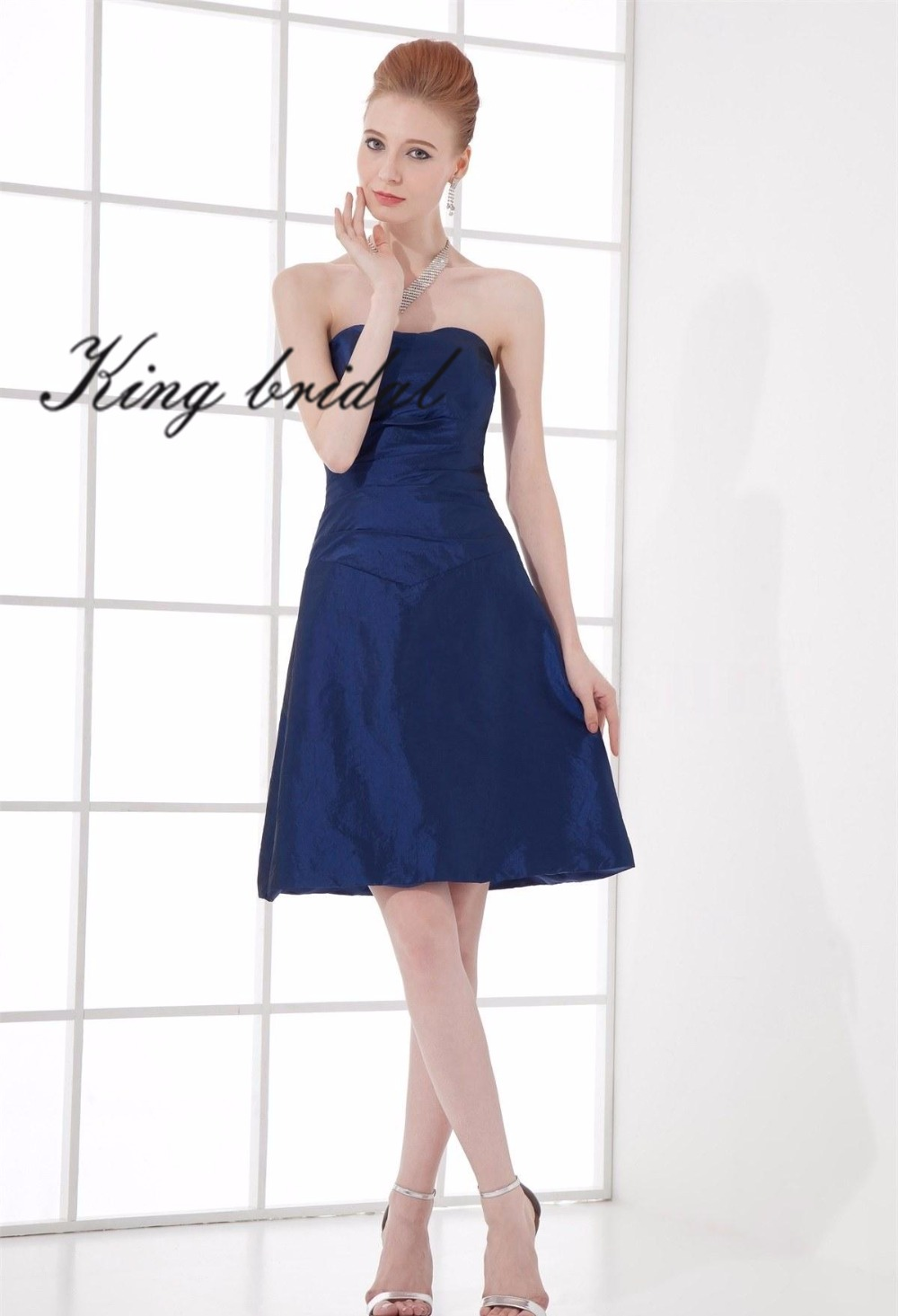Online get cheap midnight blue bridesmaid dresses for Midnight blue wedding dress