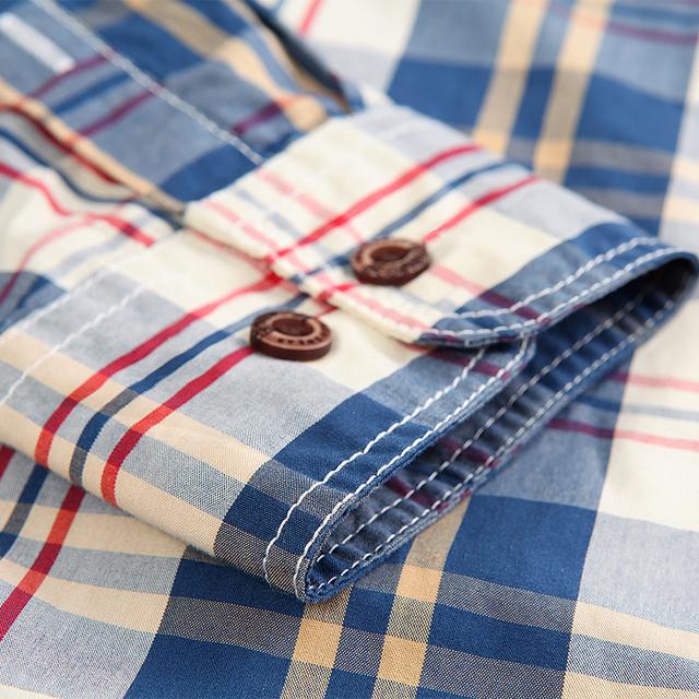 Langmeng new 2016 autumn spring mens casual shirts long sleeve 100% cotton dress shirt men retro style camiseta masculina