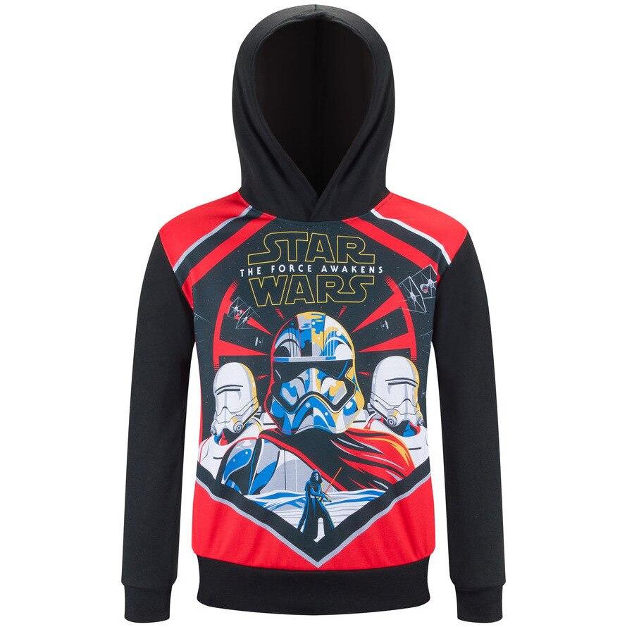 Children Spring Clothes Print Cartoon Star Wars Kids Hoodies Baby Boy Girl Fleece Infant Sweatshirt Pullover Sweater Top Costume