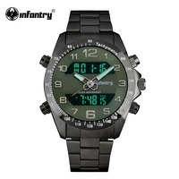 INFANTRY Military Watch Men LED Digital Quartz Wristwatch Mens Watches Top Brand Luxury Tactical Army Black Relogio Masculino