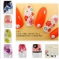 Decalques de Água Da Arte do prego de Mini Bonito Flor Dicas DIY Decorações Folha nos Dedos Do Tatuagem de Transferência da Água Da Arte Do Prego 8257839