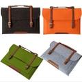 O Envio gratuito de 4 Cores 11 13 15 ''Laptop Lã Carry saco de manga tampa do caso para dell hp ibm macbook air pro
