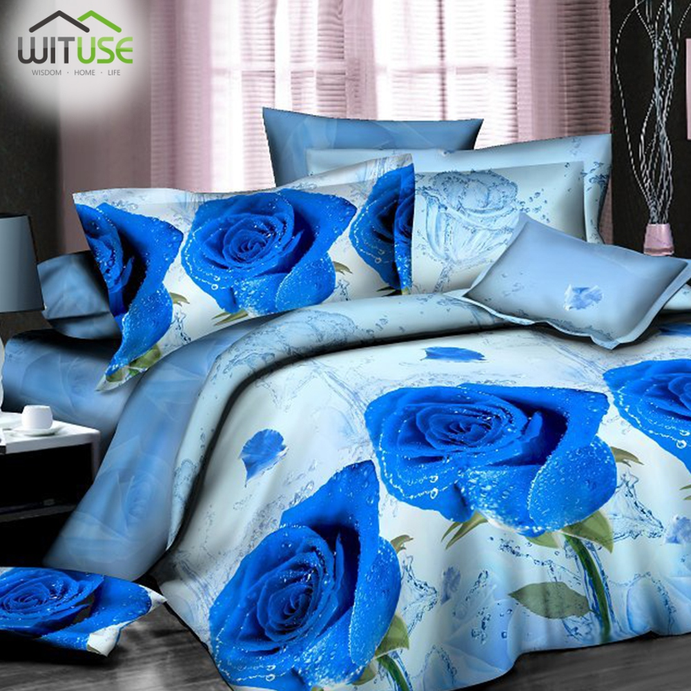 High quality down quilt HD 3D DUVET QUILT COVER PILLOW CASES BEDDING SET FLORAL PRINTING TWIN/QUEEN Tailored for you SoftHigh quality down quilt HD 3D DUVET QUILT COVER PILLOW CASES BEDDING SET FLORAL PRINTING TWIN/QUEEN Tailored for you Soft