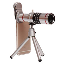 18X Telephoto Camera Lense Clip-on Cell Phone Camera Telescope Lens with Flexible Tripod and Clamp for iPhone, Samsung, HTC