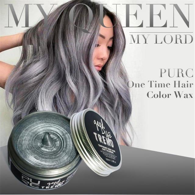 Environmentally Friendly New Hair Clay Wax Mud Dye Cream Grandma