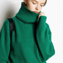 Litvriyh winter thick cashmere knit sweater women sweaters and pullover long sleeve turtleneck female knitted top