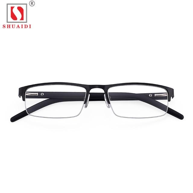 d20039082f Men Women Alloy Half Frame Resin Lenses Reading Glasses Anti Fatigue Eyewear  Presbyopic Eyeglasses +1.0 to +4.0 Diopter